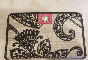 Spartina Natural Linen & Genuine Leather Wallet
